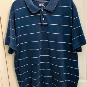 Classic blue & white Old Navy polo